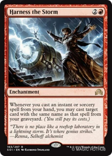 HARNESS THE STORM Shadows over Innistrad MTG Red Enchantment Rare
