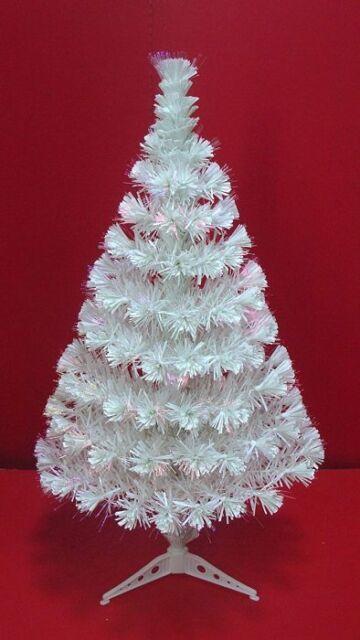 3ft White Christmas Tree.3ft White Christmas Xmas Tree With Pre Lit Fibre Optic Lights