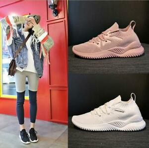 New-Women-039-s-knitting-Athletic-Running-Jogging-Shoes-Sports-Shoes-Walking-Sneaker