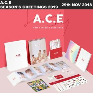 A-C-E-2019-Season-039-s-Greetings-Calendar-Diary-Note-Sticker-Pouch-Photocard-Etc