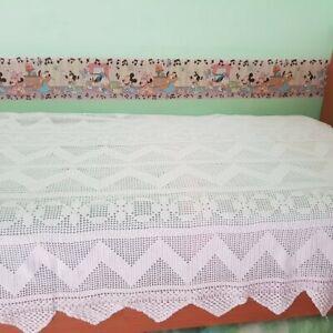 Copriletto Singolo In Cotone Bianco All Uncinetto Ebay