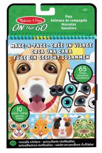 Melissa & Doug Make A Face Activity Books-On The Go - Pets