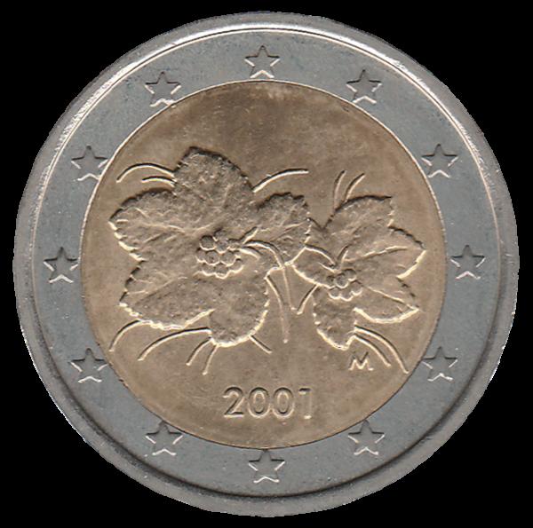 2€ Pièce 2 Euro Pays Finlande 2001 Baie Murier Nain Suomi 12 étoiles Haute RéSilience