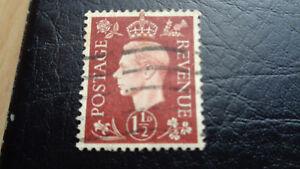 Grossbritannien-Postage-Revenue-1937-1-1-2D-Koenig-Georg-VI-gestempelt
