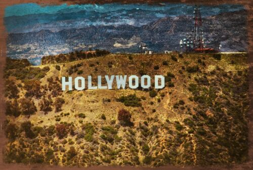 garage shed America USA Hollywood Hill Sign Vintage Style Retro Metal Sign