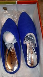 Pierre-Dumas-Royal-Blue-micro-slip-on-flat-size-5-1-2