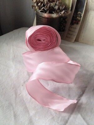 Vintage Wired Ribbon Pastel Peach Golden Tape Millinery /& Bouquets NOS 1m