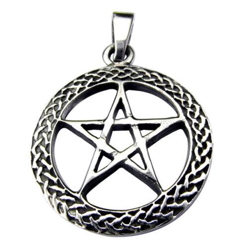925 Pentagram  In  Celtic  Circle  Pendant    ! New ! Sterling Silver