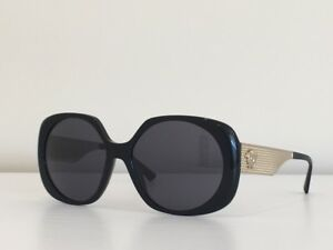 a05bb119820e 44 Versace MOD 4331 GB1 87 Round Black Gray Gold Gradient Sunglasses ...