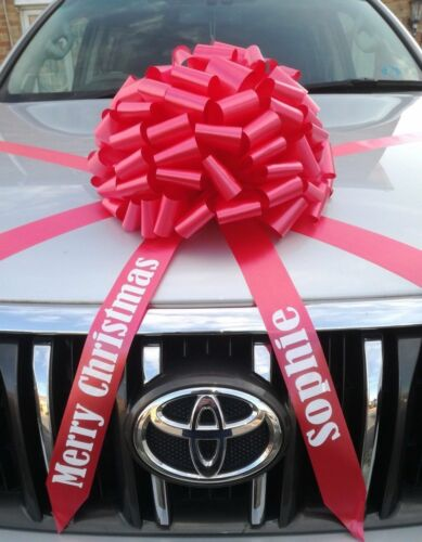 Large Big bow for cars with Personalised tails ALL COLOURS Birthdays
