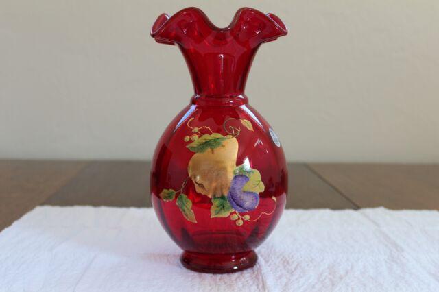 Fenton Vase Ruby Ebay