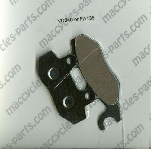 Derbi Disc Brake Pads DXR 250 Quad Front Drum Model 1 set 2004-2005 Rear