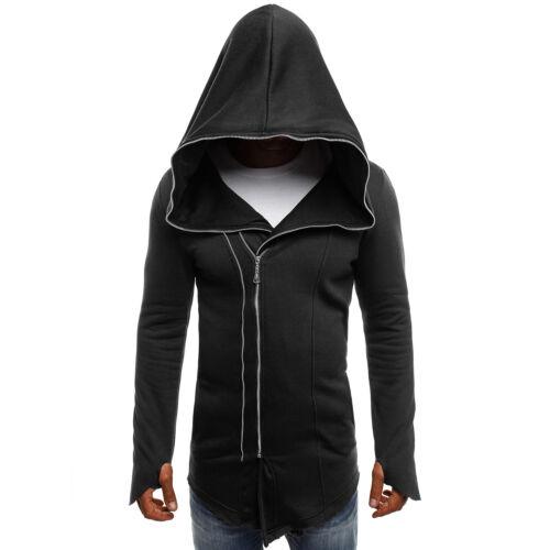 OZONEE BREEZY 9097 Herren Kapuzenpullover Sweatshirt Pullover Hoodie Assassin/'s