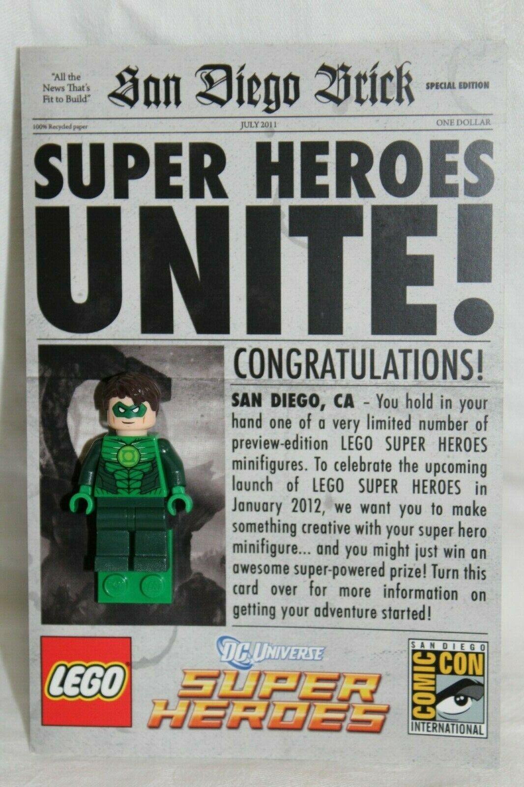 nuovo York  Comic Con Lego minicifra verde Lantern comcon016-1 Nice autod   basta comprarlo