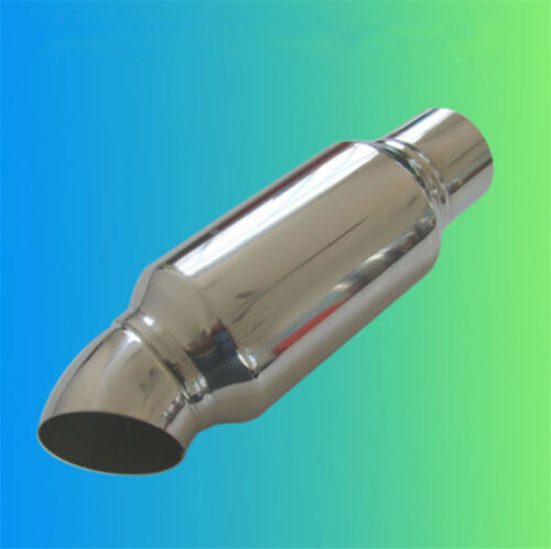 """2.5/""""inlet to 2.5/""""outlet Car Muffler Exhaust Pipe Tip Universal Stainless Steel"""