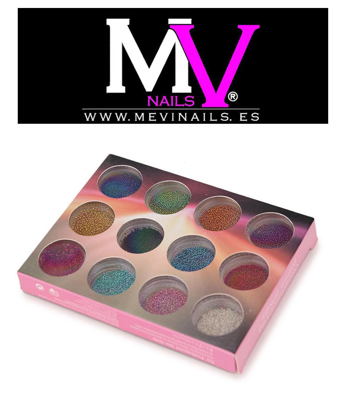 Micro Perlas de Caviar de Uñas 12 Colores Decoración nail arts 3D | eBay