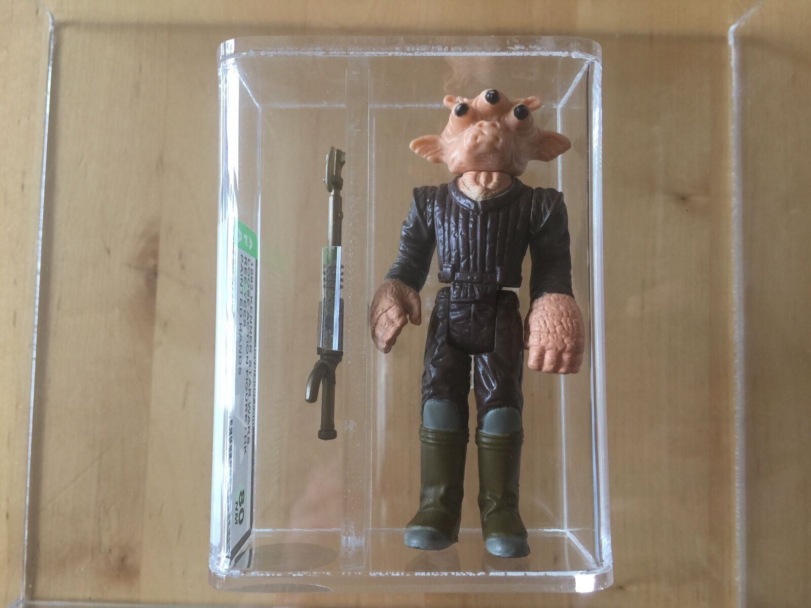 STAR WARS 1983 Ree-Yees Painted Hands 80% AFA action figure kenner