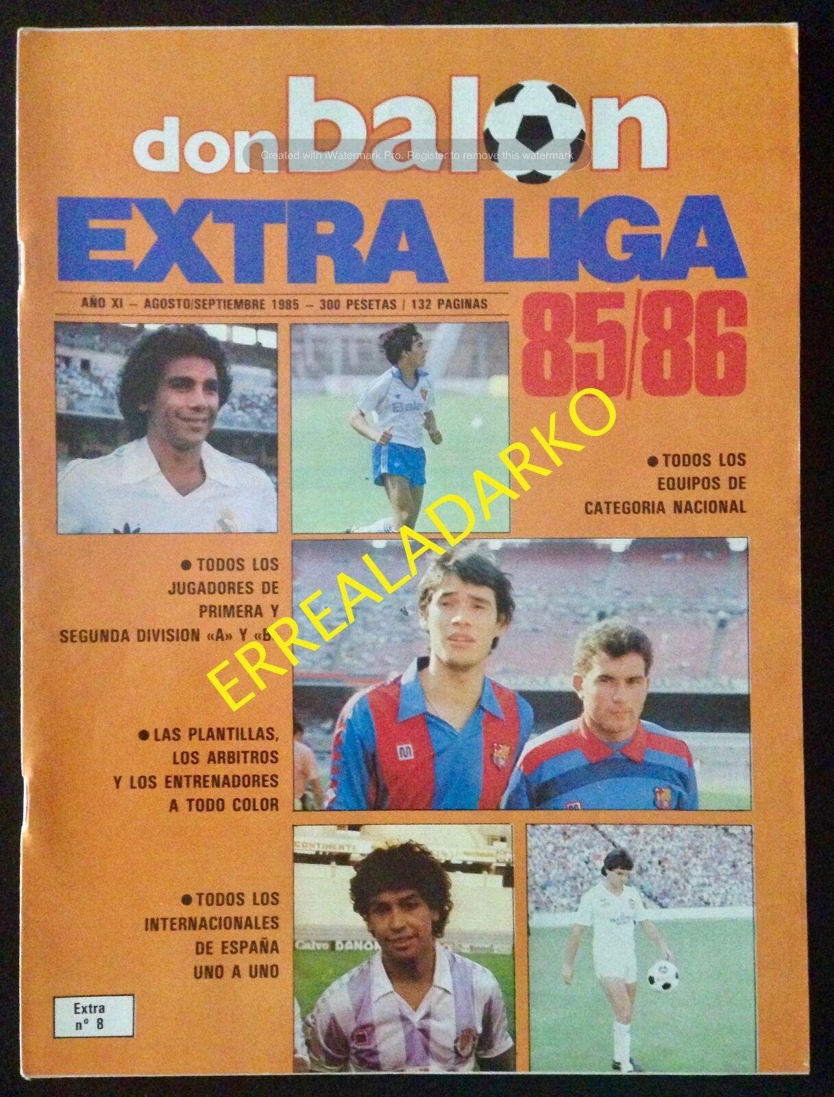 DON BALON EXTRA LIGA 85-86 1985-1986 FUTBOL LIGA ESPAÑA