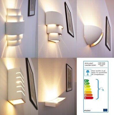 Keramik bemalbar Wand Leuchten Wohn Schlaf Zimmer Flur Dielen Lampe Retro Design