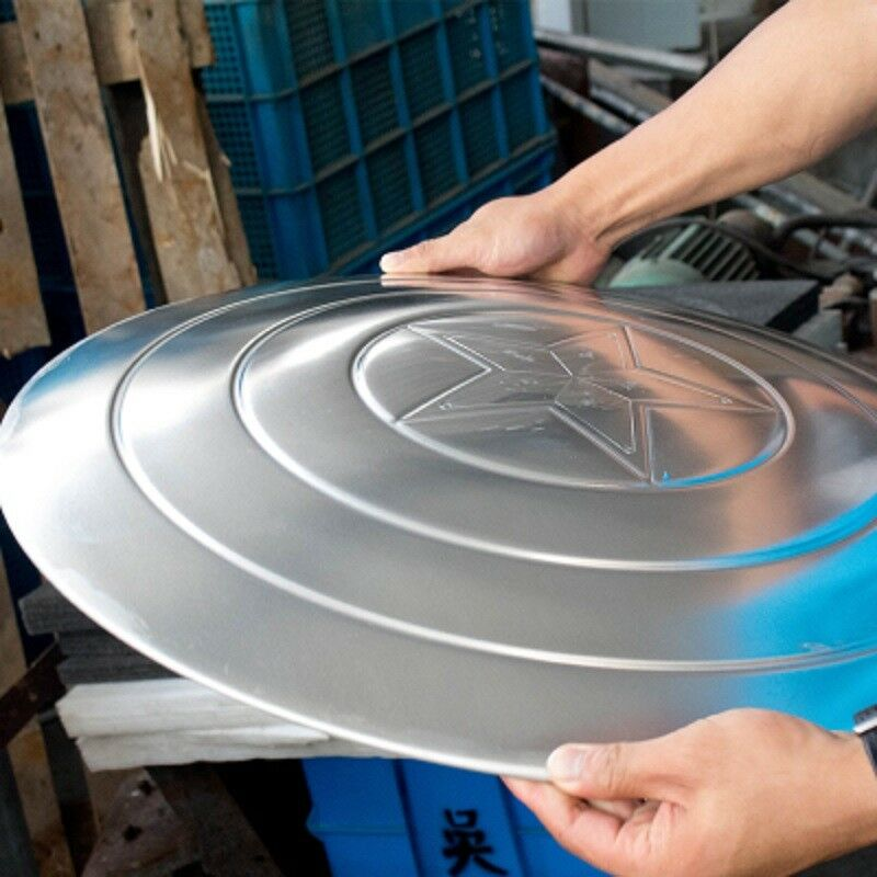 Captain America Shield 1:1 Full Aluminum Metal Shield Cosplay Unpainted/Painted 3