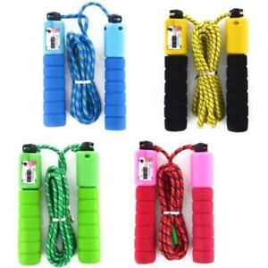 Skipping Rope With Counter Jumping Rope Exercise Boxing Gym Fitness Workout Kids