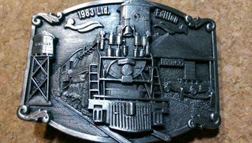 Railroad Train Pewter Belt Buckle 1983 Limited Edition North Dakota