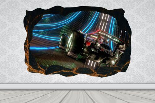 Cave Effect Crack Formula 1 Car Race Wall Sticker Poster Vinyl GA33-464