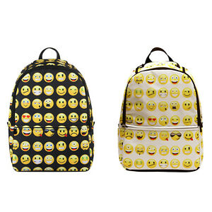 Kids Cute Emoji Backpack School Book Bag Students Bags Laptop ...
