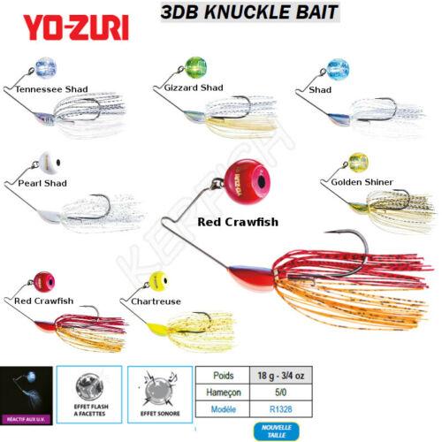 SpinnerBaits YO-ZURI 3DB KNUCKLE BAIT 18 g GOLDEN SHINER SHAD GIZZARD SHAD ...