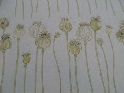 Sanderson Curtain Fabric /'POPPY PODS/' 3.5 METRES Olive//Almond 100/% Cotton