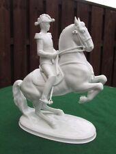 VIENNA RIDING SCHOOL WIEN AUGARTEN PORCELAIN HORSE LEVADE WITH RIDER - BOXED