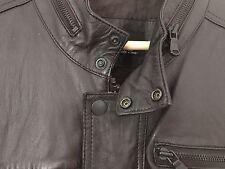 Zara Man Real Leather Biker / Bomber Jacket