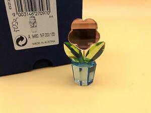 Swarovski-Figurine-Pot-de-Fleurs-Fleur-5-Cm-avec-Emballage-et-D-039-un-Certificat