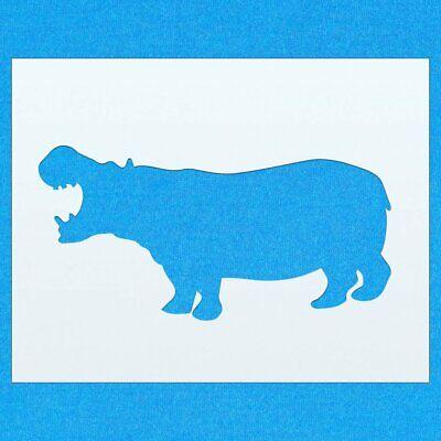 Hippo Hippopotamus Wild Animal Mylar Airbrush Painting Wall Art Crafts Stencil 1