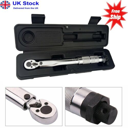 """Ratcheting Torque Wrench 1//4/"""" Torsion Wrench Drive Extension Adjust 5-25NM"""
