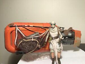 """Star Wars Black Series Deluxe #03 Rey's Speeder (Jakku) 6"""" exclusive loose"""