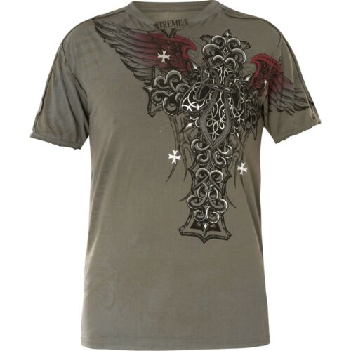 Xtreme Couture by Affliction T-Shirt Nexus SS Notch Grey
