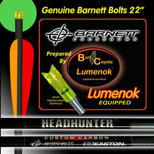 Burt Coyote Lumenok Crossbow Bolt End Fits 2216 Shafts Crescent 3-Pack #1101