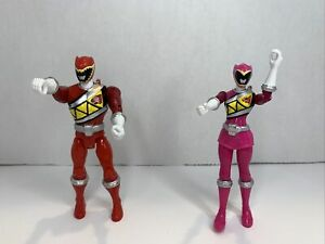 Power Rangers Dino Charge Lot Of 2 ( Pink, Red)