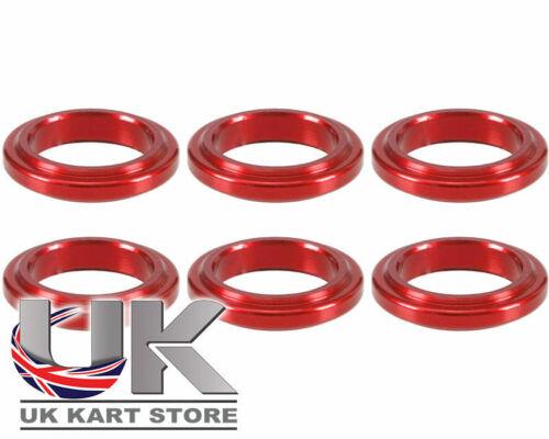 Wheel Spacer 5 mm x 17 mm Rouge Pack de 6 Go Kart KARTING Course Racing
