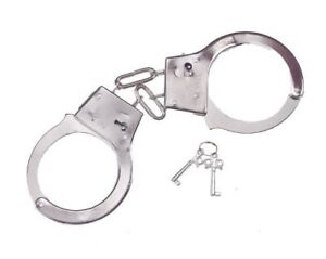 Costume or Play Accessory Morris Costumes Handcuffs Metal New by Fun World