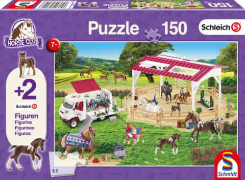 Schleich 2 Figuren 150 Teile Schmidt Puzzle 56240 Reitschule und Tierärztin