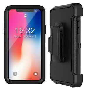 For-Apple-iPhone-Xs-X-Case-Cover-with-Belt-Clip-Fits-Otterbox-DEFENDER-SERIES