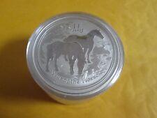 5 x  2 oz .999 fine  Silver  Perth  Mint Lunar Year of Horse 2014  Coin