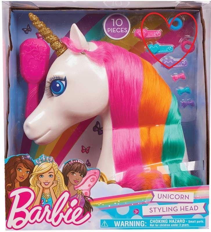 Barbie Unicorn Styling Head Toy Girls Gift Dreamtopia