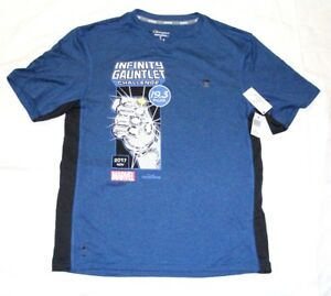 28b71aa9 Marvel x CHAMPION Men's Infinity Gauntlet Challenge V-Neck T-SHIRT ...