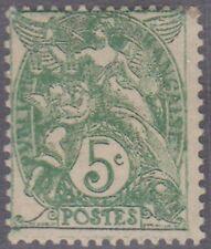 (FR47) 1900 France 5c green Blanc key value mint