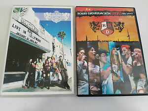 RBD-REBELDE-JOB-LOT-LOTE-2-DVD-TOUR-GENERACION-RBD-EN-VIVO-LIVE-IN-HOLLYWOOD-amp