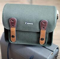Canon Rebel T1i T2i T3i Dslr Slr Canvas Camera Case Mini Shoulder Bag/khaki