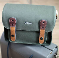 Canon Rebel T1i T2i T3i Dslr Slr Canvas Camera Case Mini Shoulder Bag/khaki